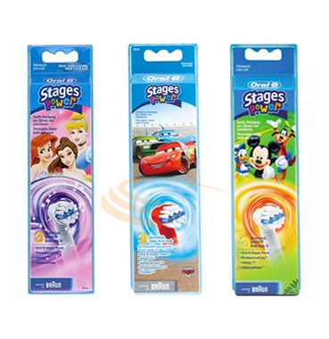 Oral-B Linea Igiene Dentale Quotidiana Kids Power 3 Spazzolini di Ricambio